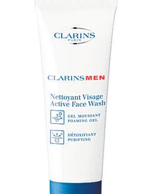 <b>Clarins Men Active Face Wash</b><br/>  A daily foaming cleanser that removes impurities, leaving skin clean and fresh. It doesn't overly dry the skin, which means its ideal for all skin types<br/>  <b>Where</b> Boots (www.boots.com) <br/>  <b>How much</b> £17.87 (125ml)