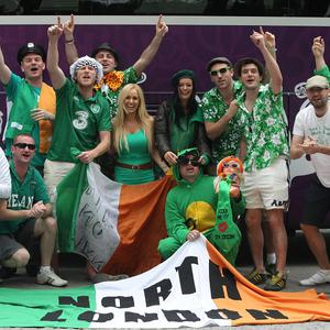 Irish fans have not created much work for consular staff at the Euro 2012 football tournament