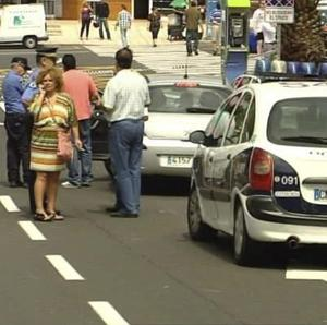 Video grab showing the scene of the attack in Tenerife (AP Photo/Atlas TV)
