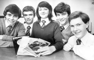 Sixth-form students who have won the Schools' Institute of Electrical Engineering Liaison Service competition organised to promote engineering for students, 1982.