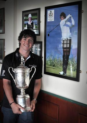 US Open Champion 2011 Rory McIlroy returns to Hollywood Golf Club