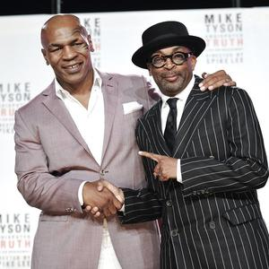 Mike Tyson, left, and director Spiken Lee (Evan Agostini/Invision)