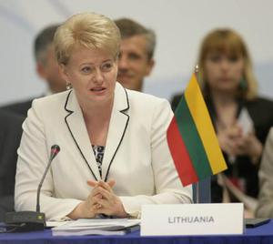 <b>Dalia Grybauskaite - President of Lithuania </b><br/> Lithuania's president Dalia Grybauskaite is often referred to by Thatcher's former nickname the 'Iron Lady,' for her outspoken ways and her black belt in karate. She was inaugurated as the country's first female head of state in July 2009, having won a landslide victory in May with over 68 per cent of the vote.