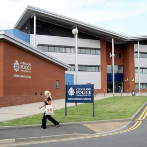 Cleveland Police HQ in Middlesbrough, after the Chief Constable of Cleveland Police Sean Price and his deputy Derek Bonnard were arrested