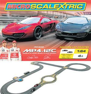 """<b>{6} MICRO SCALEXTRIC MCLAREN</b><br/> If your little one loves Formula One, this five-metre long Scalextric set is for them. It has a car """"designed"""" by Lewis Hamilton and Jensen Button and comes with a lap counter and extra-bendy track. <b>£44.99, scalextric.com </b>"""