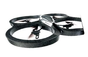 <b>{8} PARROT AR DRONE</b><br/> Parrot's drone is just about the coolest thing that ever took flight. Built into its hull is a spy camera which streams live pictures to your iPhone via wi-fi as it buzzes around the room.  <b>£280, sciencemuseumshop.co.uk</b>