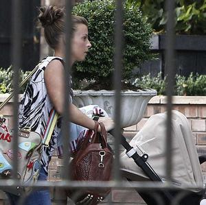 Coleen Rooney was spotted outside her mother's home on Thursday