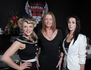 Julieann Carson, Michelle Rollins and Sonya McCurley at Kapital Ink