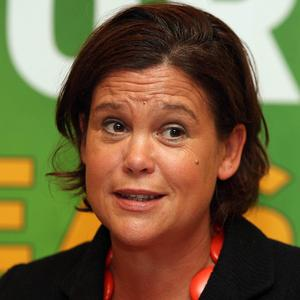 Mary Lou McDonald has accused the Government of being able to cut home help services but powerless to act on bankers' pensions