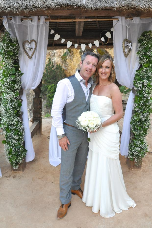 """Wedding of Andrew Lynch from Belfast to Julie McCrory from Glengormley on 4th June 2012 at Amante Beach Club, Ibiza.  <p><b>To send us your Wedding Pics <a  href=""""http://www.belfasttelegraph.co.uk/usersubmission/the-belfast-telegraph-wants-to-hear-from-you-13927437.html"""" title=""""Click here to send your pics to Belfast Telegraph"""">Click here</a> </a></p></b>"""