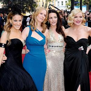Sarah Jessica Parker, Cynthia Nixon, Kristin Davis and Kim Catrall at the UK premiere of Sex and the City 2