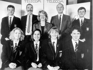 Methodist College Belfast- Business team, 1990.