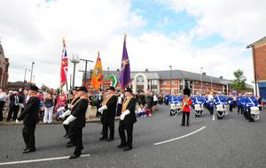 Pacemaker Press Belfast 12-07-2012: Tens of thousands of Orangemen and women will take part in the annual Twelfth celebrations across Northern Ireland today.There will be three flagship events in Carrickfergus, Ballynahinch and Fermanagh. Picture By: Arthur Allison.
