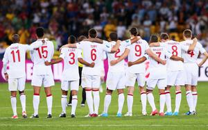 KIEV, UKRAINE - JUNE 24:  England players look on during the penalty shoot out in the UEFA EURO 2012 quarter final match between England and Italy at The Olympic Stadium on June 24, 2012 in Kiev, Ukraine.  (Photo by Alex Livesey/Getty Images)