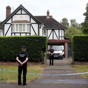 Police evacuated the area in Claygate, Surrey