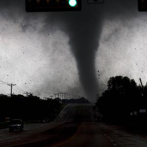 A tornado touches down in Lancaster, Texas south of Dallas (AP)