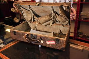 A 100-year-old suitcase belonging to Millvina Dean, the last remaining survivor of the Titanic