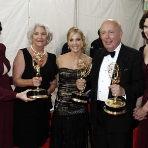 Julian Fellowes and the ladies of Downton Abbey have lots to celebrate