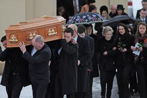 The funeral of Pat Cullinan, 45, who died in Thursday's plane crash at Cork Airport