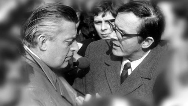 MERLYN REES.Former Secretary of State for Northern Ireland, Labour MP, Baron Merlyn-Rees. Pictured with DUP leader Ian Paisley.