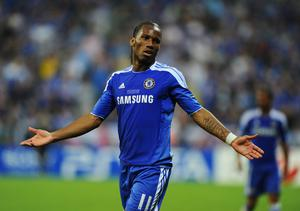 MUNICH, GERMANY - MAY 19:  Didier Drogba of Chelsea reacts during UEFA Champions League Final between FC Bayern Muenchen and Chelsea at the Fussball Arena München on May 19, 2012 in Munich, Germany.  (Photo by Mike Hewitt/Getty Images)