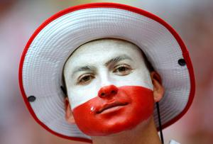 WARSAW, POLAND - JUNE 12:  Poland fans enjoy the pre match atmosphere during the UEFA EURO 2012 group A match between Poland and Russia at The National Stadium on June 12, 2012 in Warsaw, Poland.  (Photo by Shaun Botterill/Getty Images)