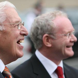 Ian Paisley and Martin McGuinness were branded the 'chuckle brothers'