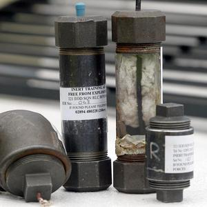 The discovery of pipebombs, similar to the one pictured, have caused homes to be evacuated in Dungannon, Co Tyrone