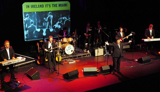 The Miami Showband reformed in Belfast for a sell-out  charity concert in aid of the 'Children in Crosssfire' charity at the Grand Opera House