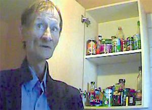 While his eyes still burned with his trademark defiance, Alex Higgins' body is ravaged by malnourishment and cancer as he shows us the stock of food he is unable to eat because of the pain