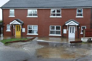 The Ballymagroarty area of Derry where several homes were flooded