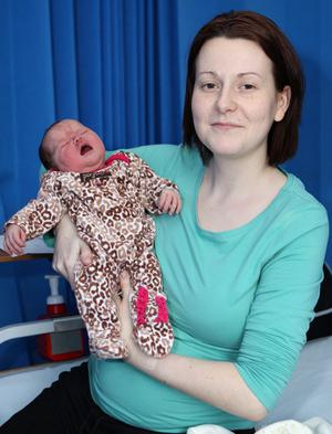 "Nicola Rice with her daughter Dakota <p><b>To send us your Baby Pics <a href=""http://www.belfasttelegraph.co.uk/usersubmission/the-belfast-telegraph-wants-to-hear-from-you-13927437.html"" title=""Click here to send your pics to Belfast Telegraph"">Click here</a> </a></p></b>"
