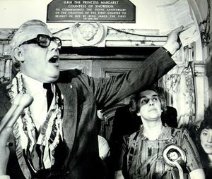 Ian Paisley:Democratic Unionist Party (DUP), with wife Eileen.