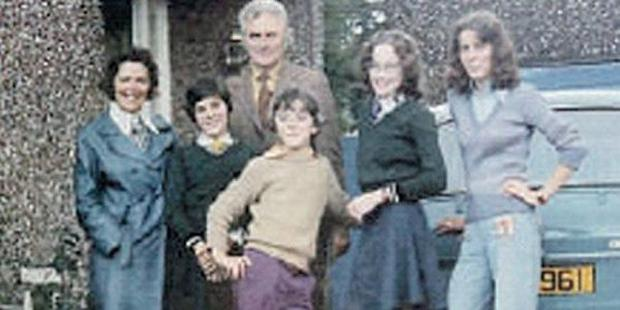 Jimmy Nesbitt and family during the Seventies