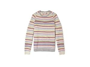 <b>9. Folk, £155, mywardrobe.com</b>  If you're looking for a statement knit with subtlety, this multi-stripe crewneck sweater from Folk is a key contender. The mix of coloured and grey stripes gives the garment a homespun feel. And it's this laid back approach to fashion that has given the label such a global following.