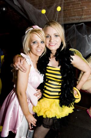 Ollies Halloween party  - pictured  Sarah Meenagh and Michelle Donnelly