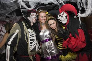 Ollies Halloween party  - pictured  Padraig O'Neill, Louise Hamill, Helen Campbell and Aaron Rolph