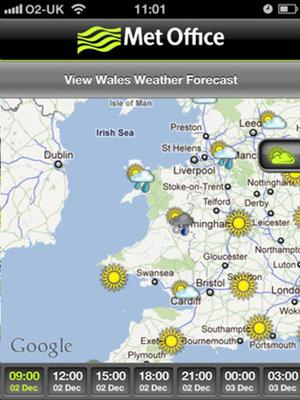 """<b>1. Met Office Weather</b><br/>  Free, Android and iPhone  The Met Office is the best. Its app has three hourly forecasts and also five-day predictions. It also gives the """"feels-like"""" temperature and even has a UV forecast map."""