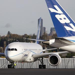 Boeing has grounded its test fleet of 787s while it investigates an electrical fire that sparked an emergency landing (AP)