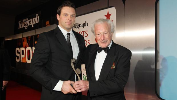 Ulster rugby stalwart Bryn Cunningham took the Special Award, handed over by legend Jack Kyle.