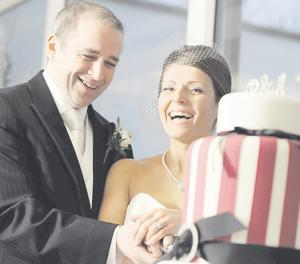 "Philip and Alison Cosgrove on their wedding day <p><b>To send us your Wedding Pics <a  href=""http://www.belfasttelegraph.co.uk/usersubmission/the-belfast-telegraph-wants-to-hear-from-you-13927437.html"" title=""Click here to send your pics to Belfast Telegraph"">Click here</a> </a></p></b>"