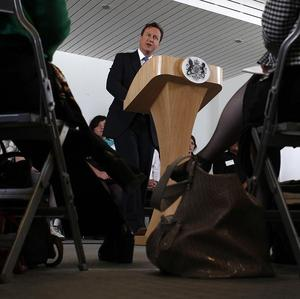 David Cameron gives his Big Society speech at Make a Difference in Milton Keynes