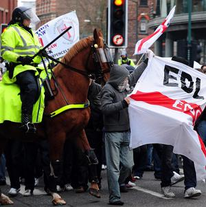 Police believe demonstrations by far right activists like the English Defence League fuel Islamic extremism