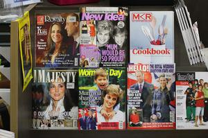 Major Sydney newspapers and magazinges on display on the day of the Royal Wedding at a newsagency on April 29, 2011 in Sydney, Australia