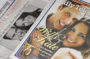 Major Sydney newspapers front pages displaying the day of the Royal Wedding at a newsagency on April 29, 2011 in Sydney, Australia