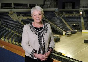 DREAM JOB: Dianne at the Odyssey during her visit to Northern Ireland