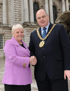 Dianne with Mayor Pat Convery