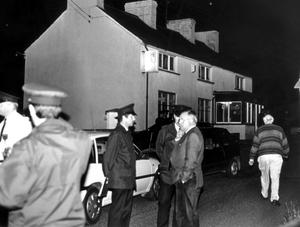 O'Tooles Bar (The Heights) in the Co. Down village of Loughinisland. Six men were shot dead by two UVF gunmen, while they were watching the 1994 World Cup on television.