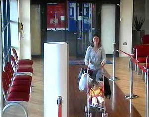 Missing 17-month-old girl Sophie Anderson with her mother Lucy Anderson at a ferry terminal in Belfast