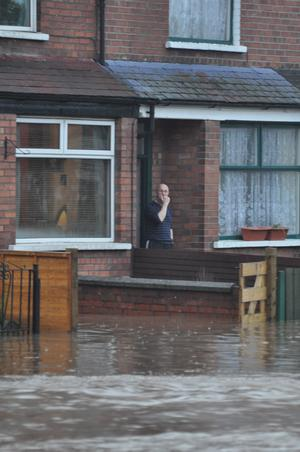 East Belfast floods. Image submitted by Conor Dunn